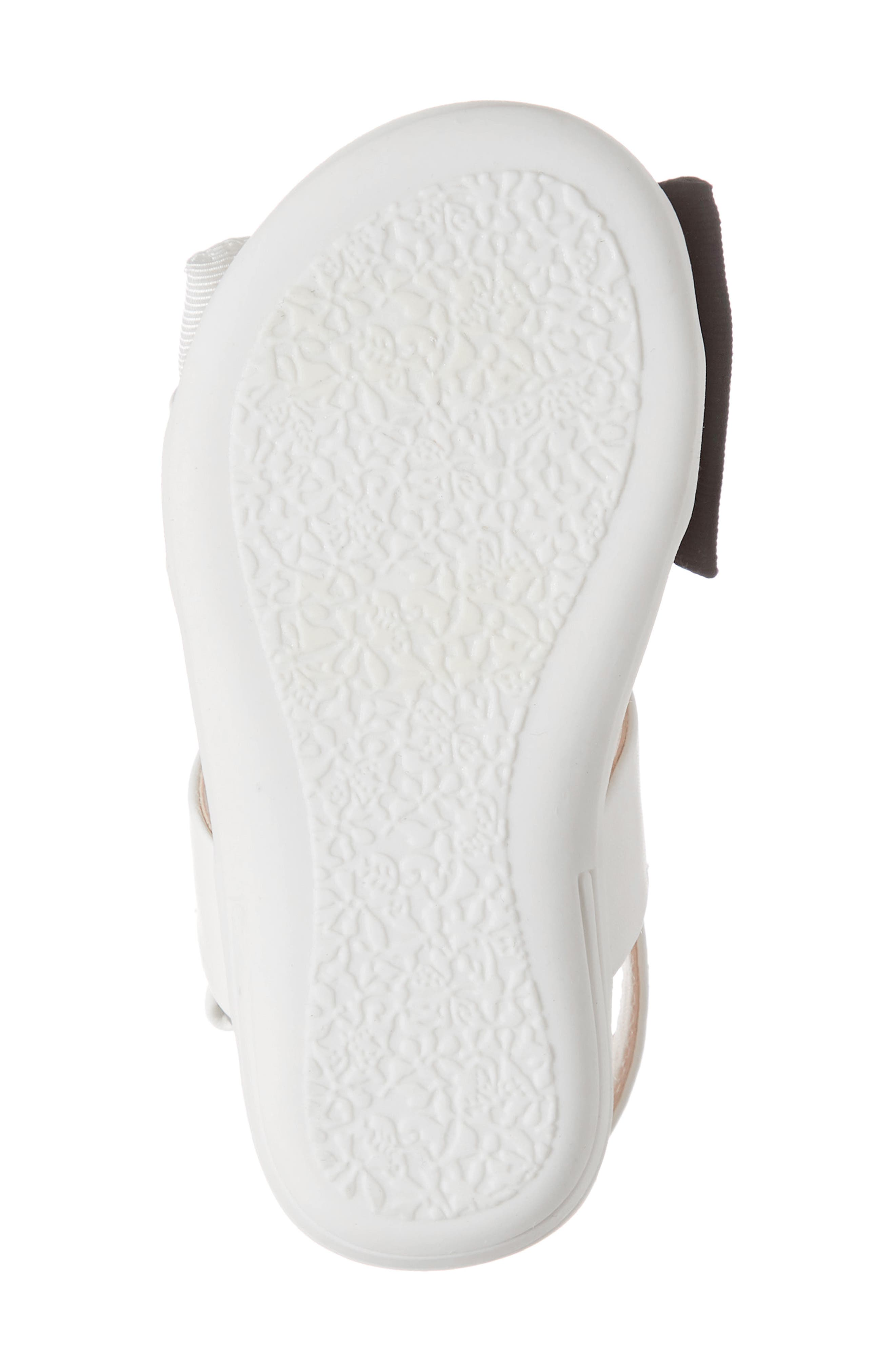 ,                             Chelsea Bow Sandal,                             Alternate thumbnail 6, color,                             WHITE/BLACK FAUX LEATHER