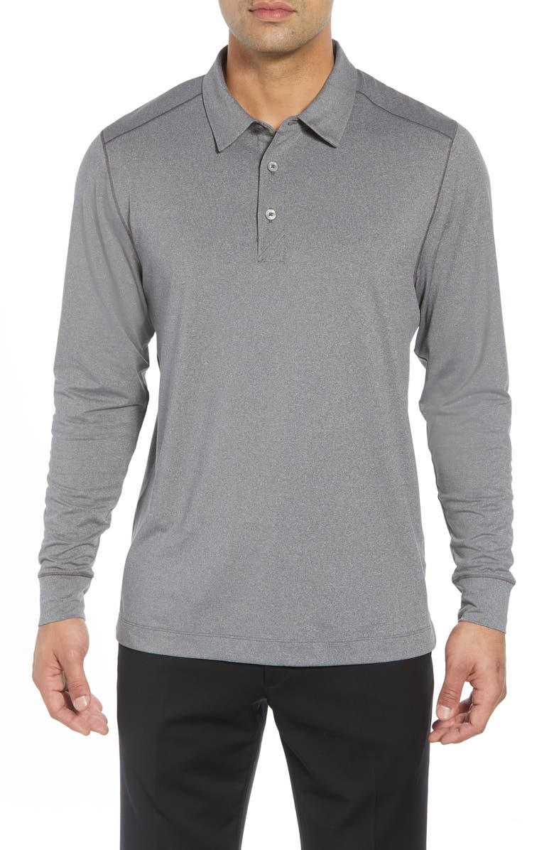 CUTTER & BUCK Matthew DryTec Long Sleeve Polo, Main, color, 020