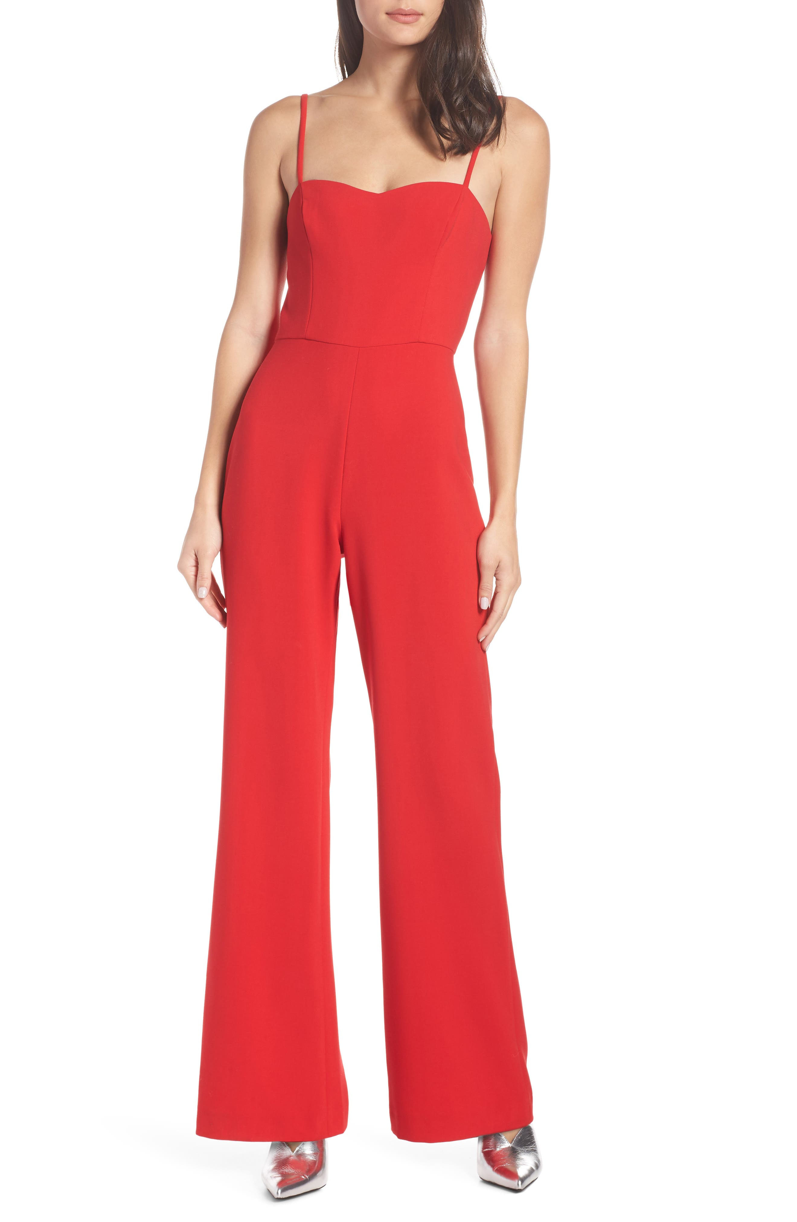 Image of French Connection Sweetheart Whisper Flared Leg Jumpsuit