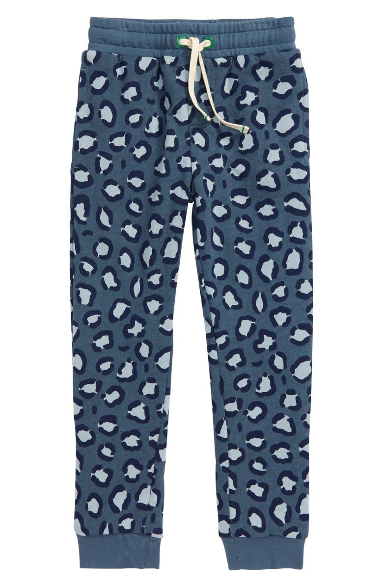 MINI BODEN Cosy Lined Jogger Pants, Main, color, GREY ANIMAL SPOT