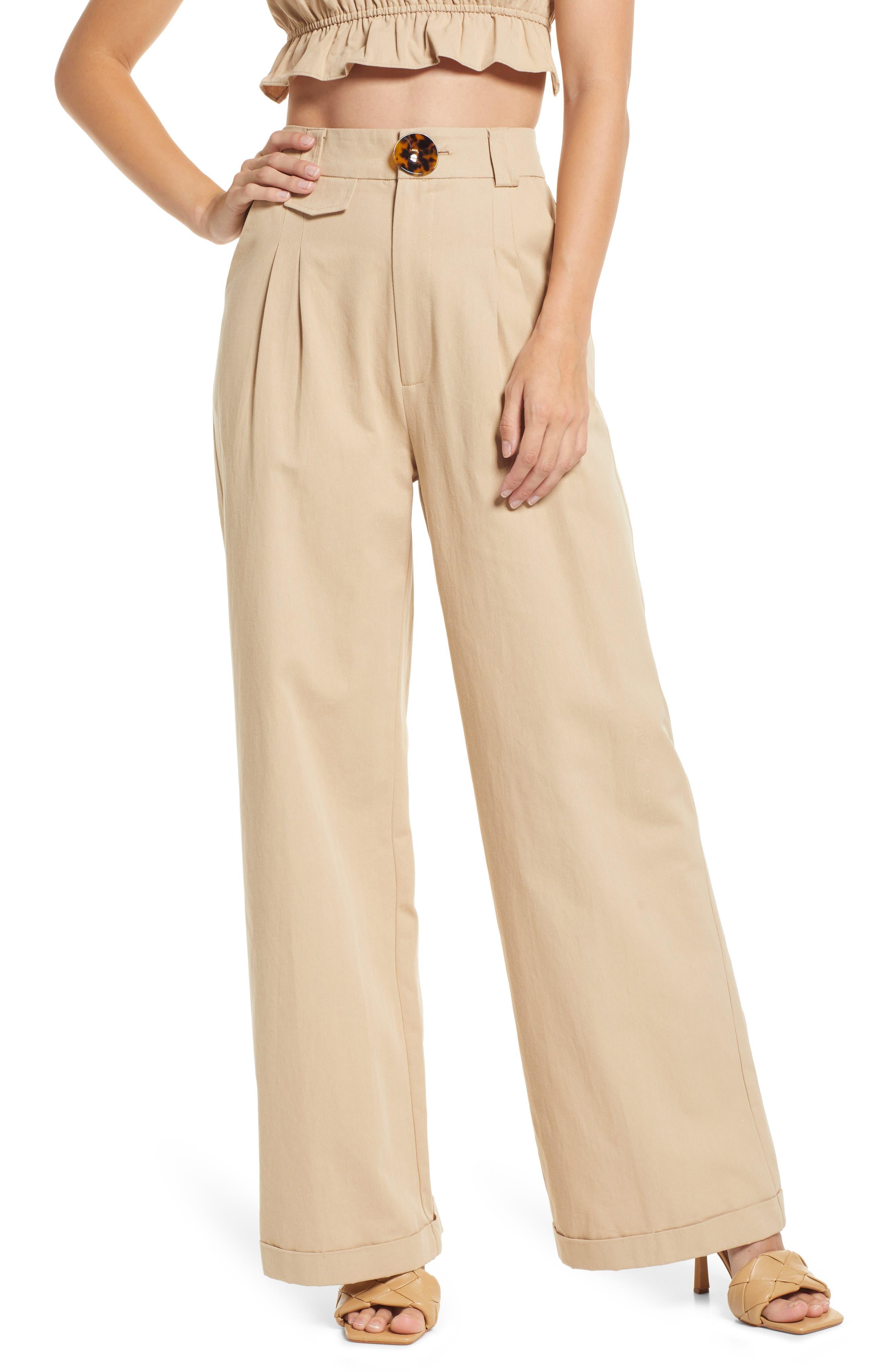 Seeking Adventures Wide Leg Cotton Pants