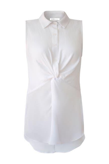 Image of BCBGeneration Twist Front Sleeveless Shirt