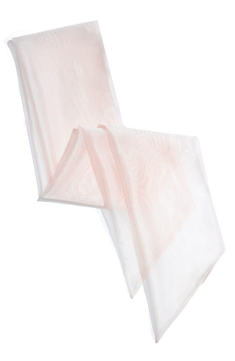 US ANGELS Wide Organza Sash, Main, color, BLUSH PINK
