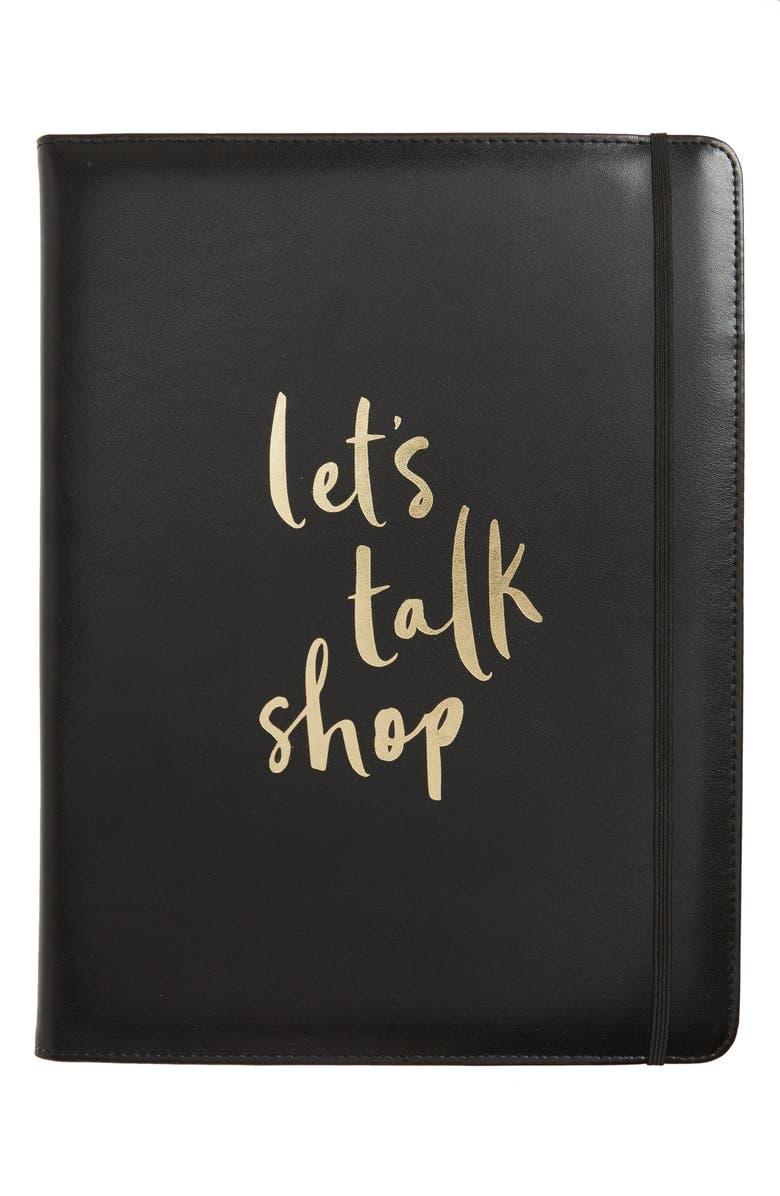 KATE SPADE NEW YORK let's talk shop notepad folio, Main, color, 001