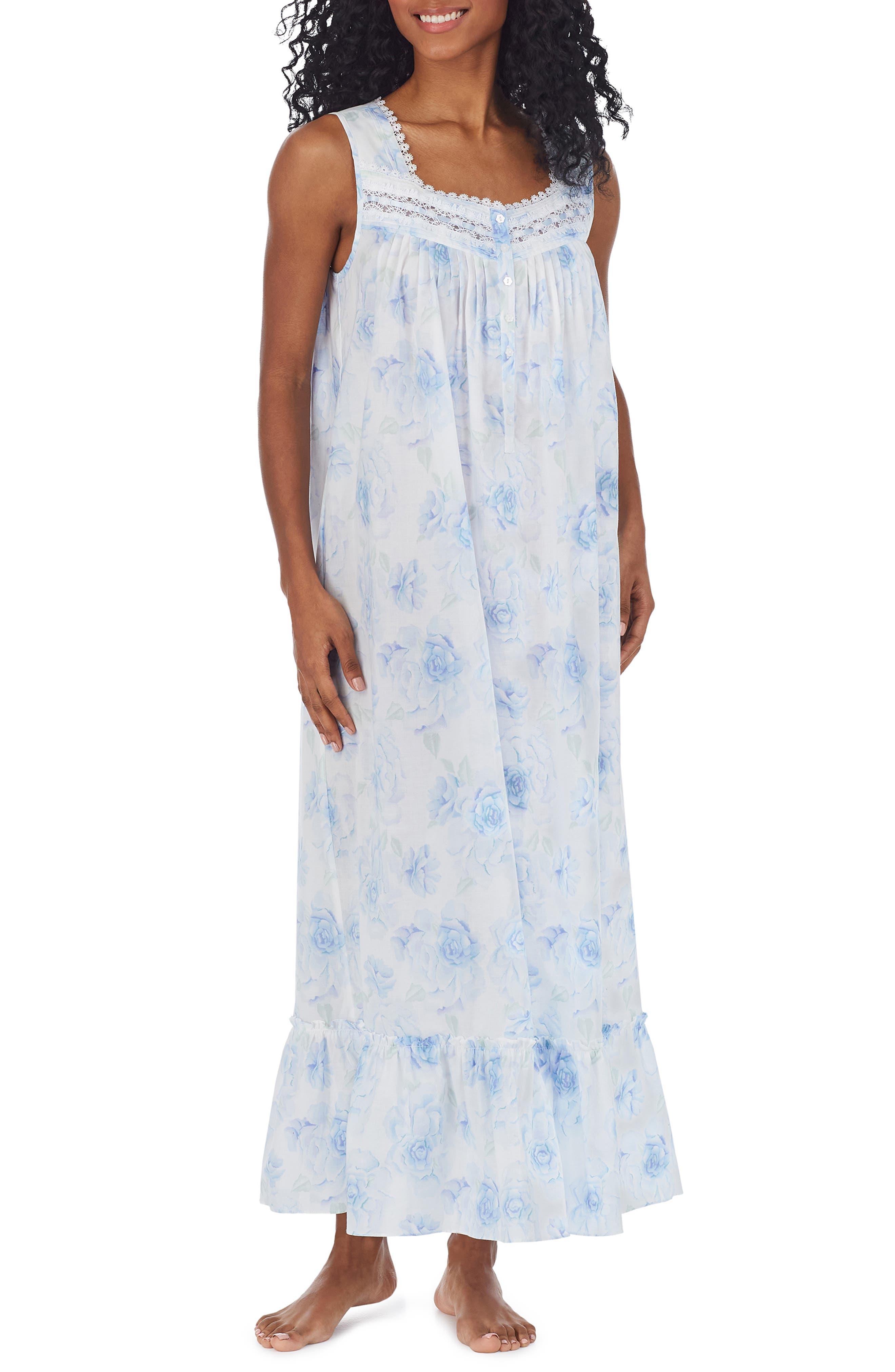 Floral Print Cotton Lawn Ballet Nightgown