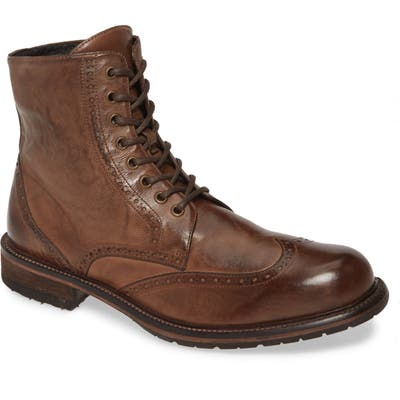 J & m 1850 Lofting Wingtip Boot- Brown