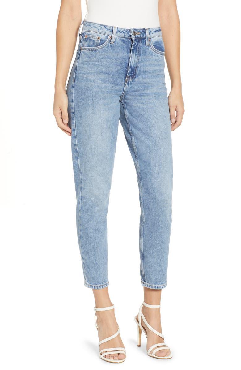 TOPSHOP Autumn High Waist Mom Jeans, Main, color, 460