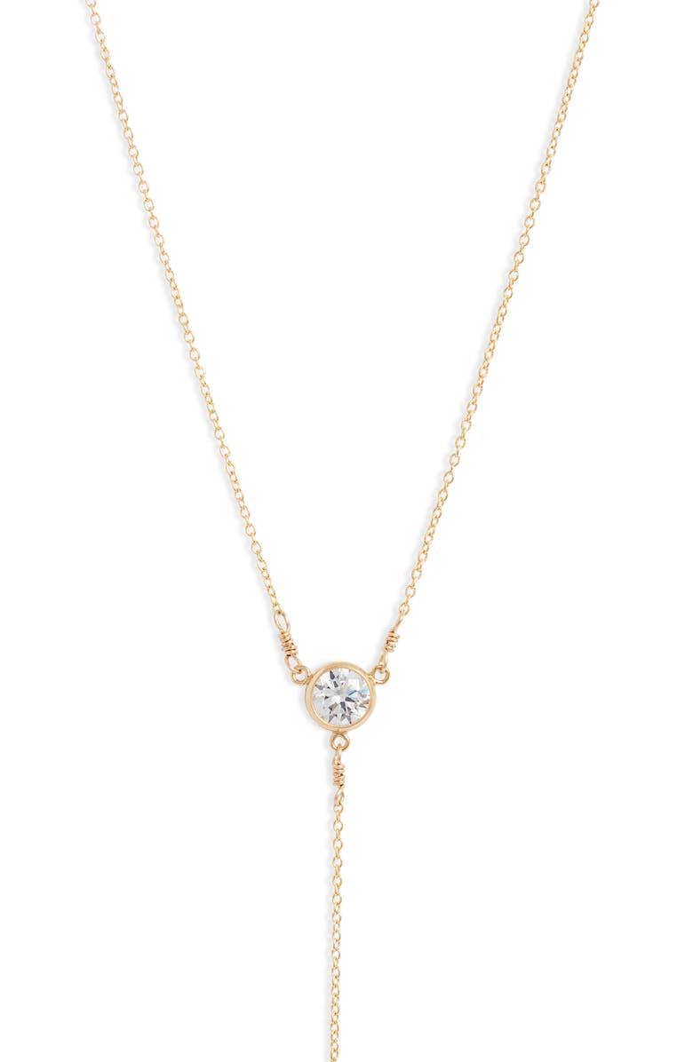 SET & STONES Teagan Y-Necklace, Main, color, GOLD