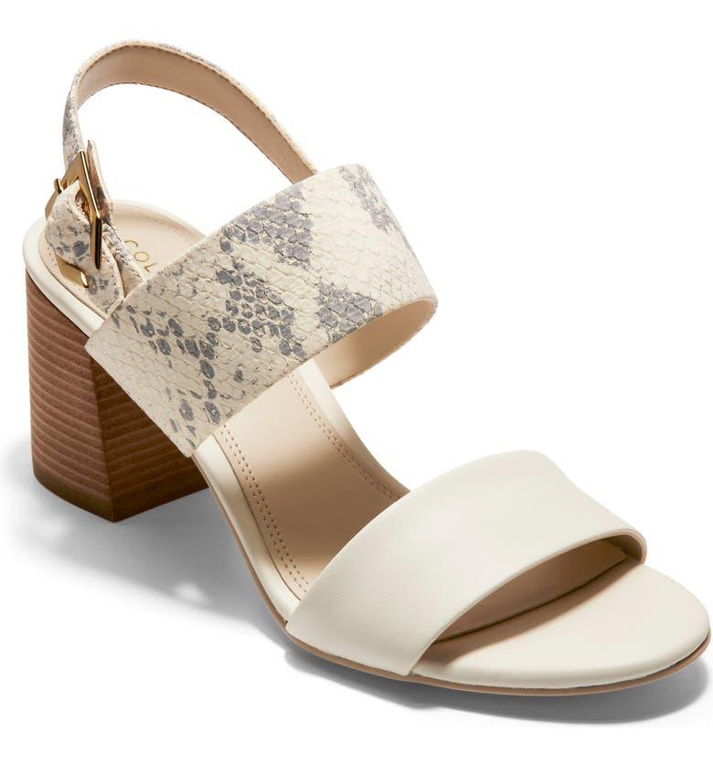 COLE HAAN Avani Block Heel Sandal, Main, color, IVORY PRINT LEATHER