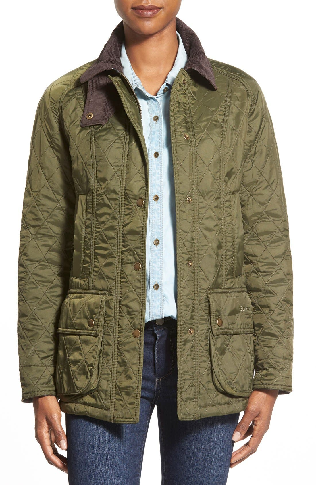 Women's Barbour Beadnell Fleece Lined Quilted Jacket