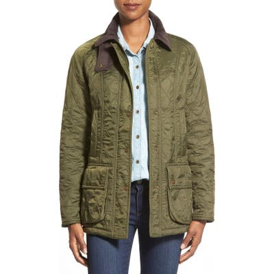 Barbour Beadnell Quilted Jacket, US / 16 UK - Green