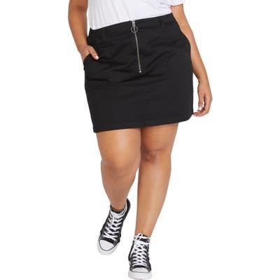 Plus Size Volcom Frochickie Skirt, Black