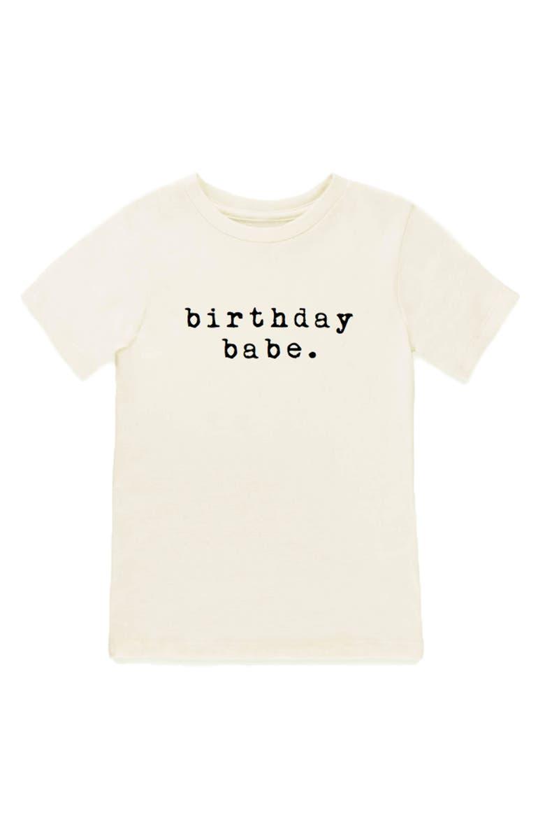 TENTH & PINE Birthday Babe Graphic Organic Cotton T-Shirt, Main, color, 100