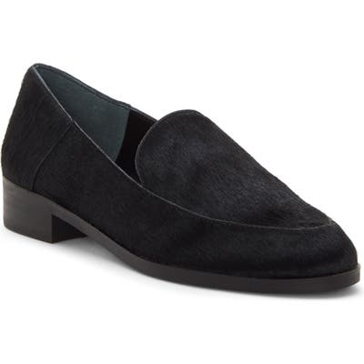 Lucky Brand Camdyn Genuine Calf Hair Loafer, Black