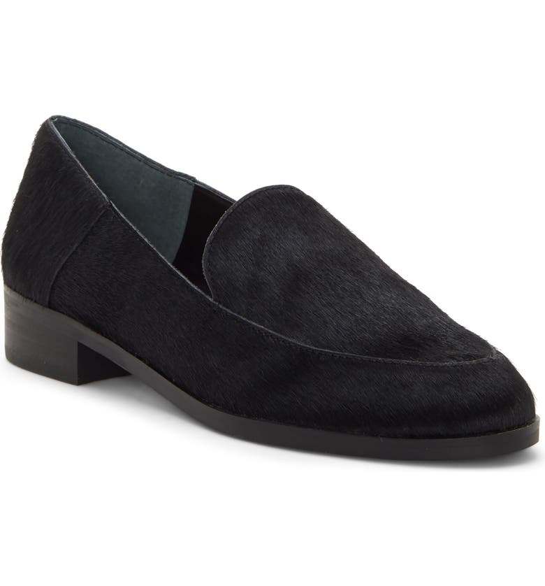 LUCKY BRAND Camdyn Genuine Calf Hair Loafer, Main, color, BLACK CALF HAIR