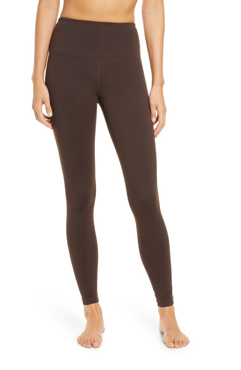 ZELLA Live In High Waist Leggings, Main, color, BROWN BEAN