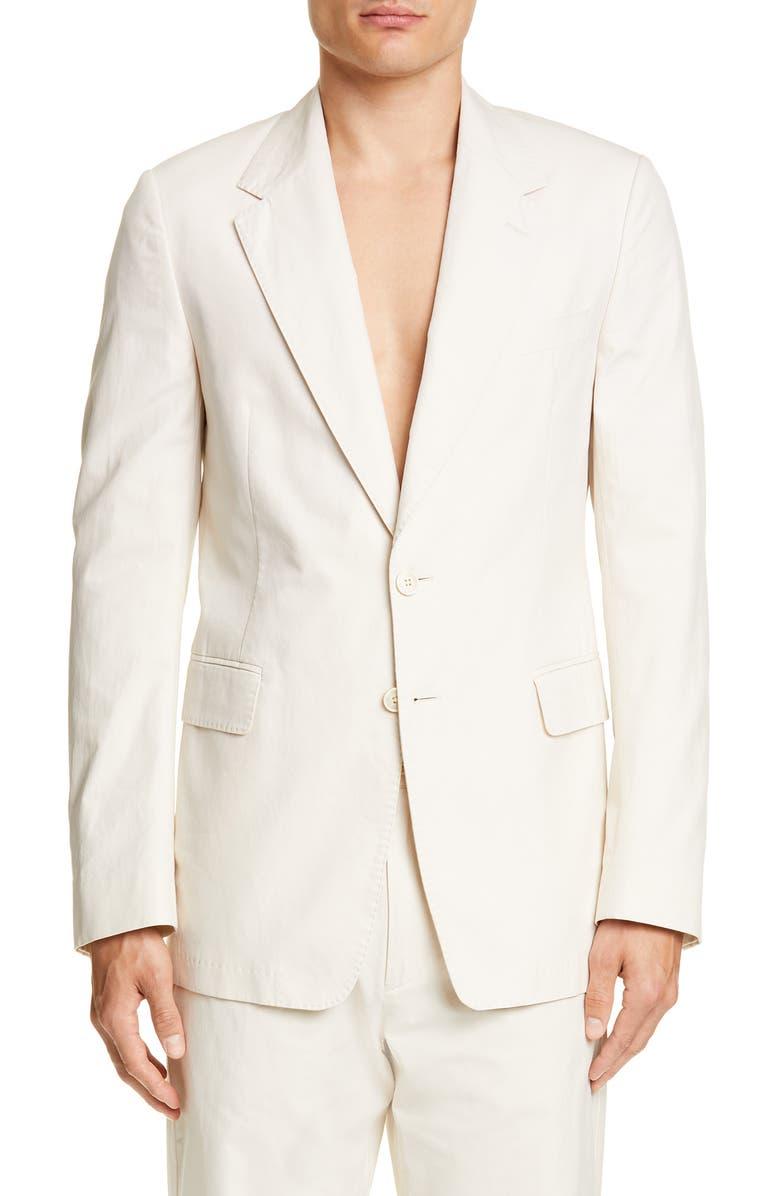 DRIES VAN NOTEN Burnes Cotton Sport Coat, Main, color, 101