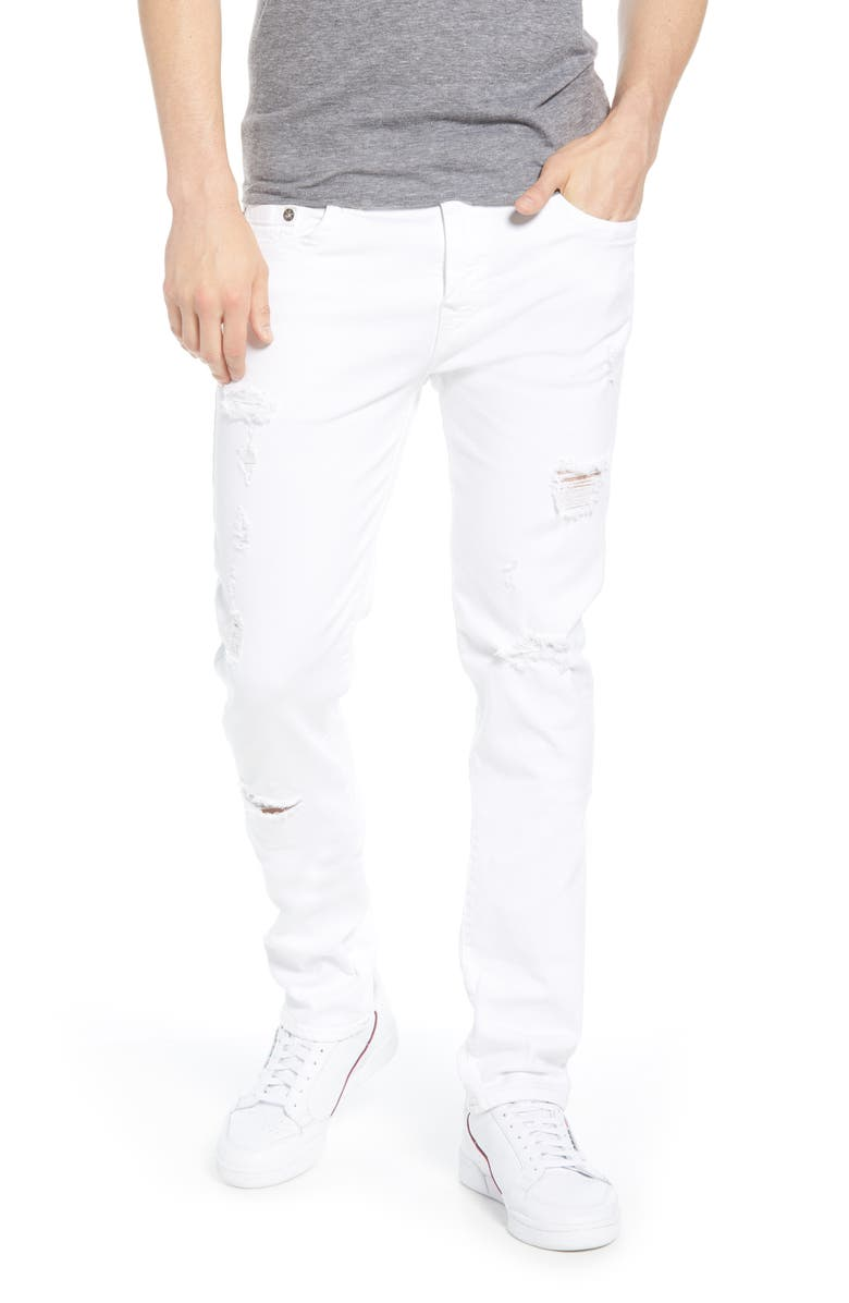 TRUE RELIGION BRAND JEANS Rocco Skinny Fit Jeans, Main, color, 101