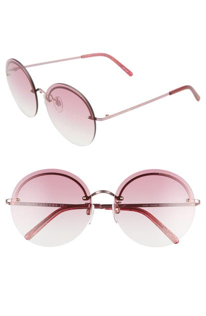 Marc Jacobs Sunglasses 60MM ROUND SUNGLASSES - CHERRY/ RED GRADIENT