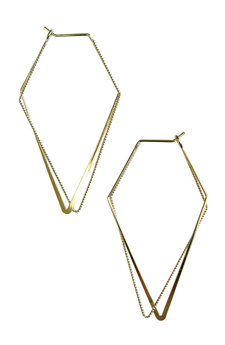 JULES SMITH Geometry Hoop Earrings, Main, color, GOLD