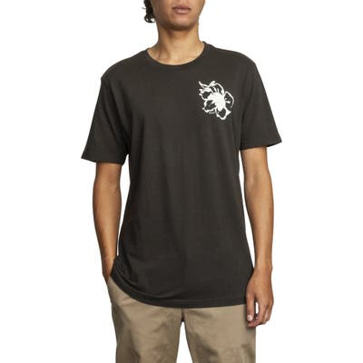 Rvca Mono Flower Graphic T-Shirt, Black