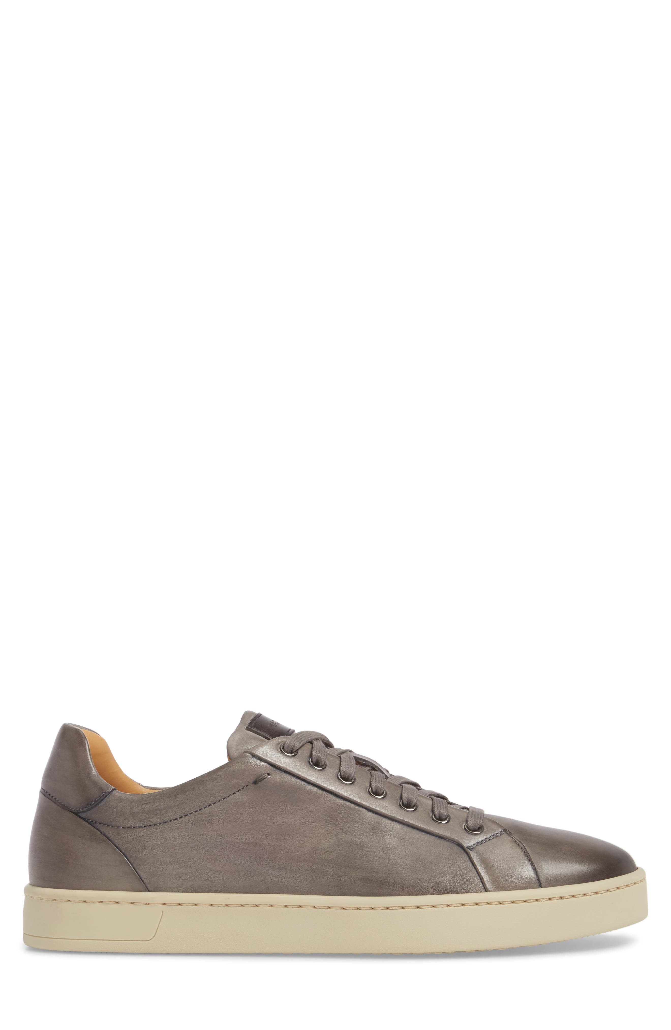 ,                             Elonso Low Top Sneaker,                             Alternate thumbnail 3, color,                             GREY LEATHER
