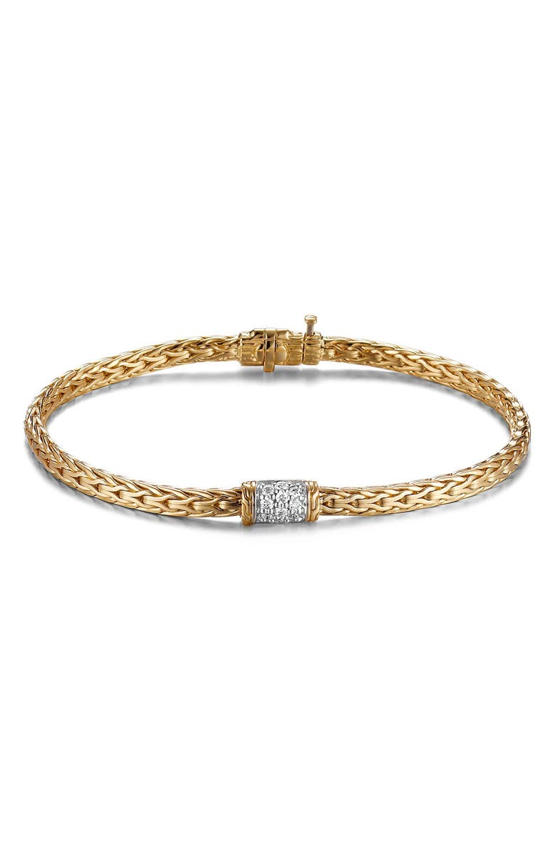 JOHN HARDY Classic Chain Bracelet with Diamonds, Main, color, GOLD