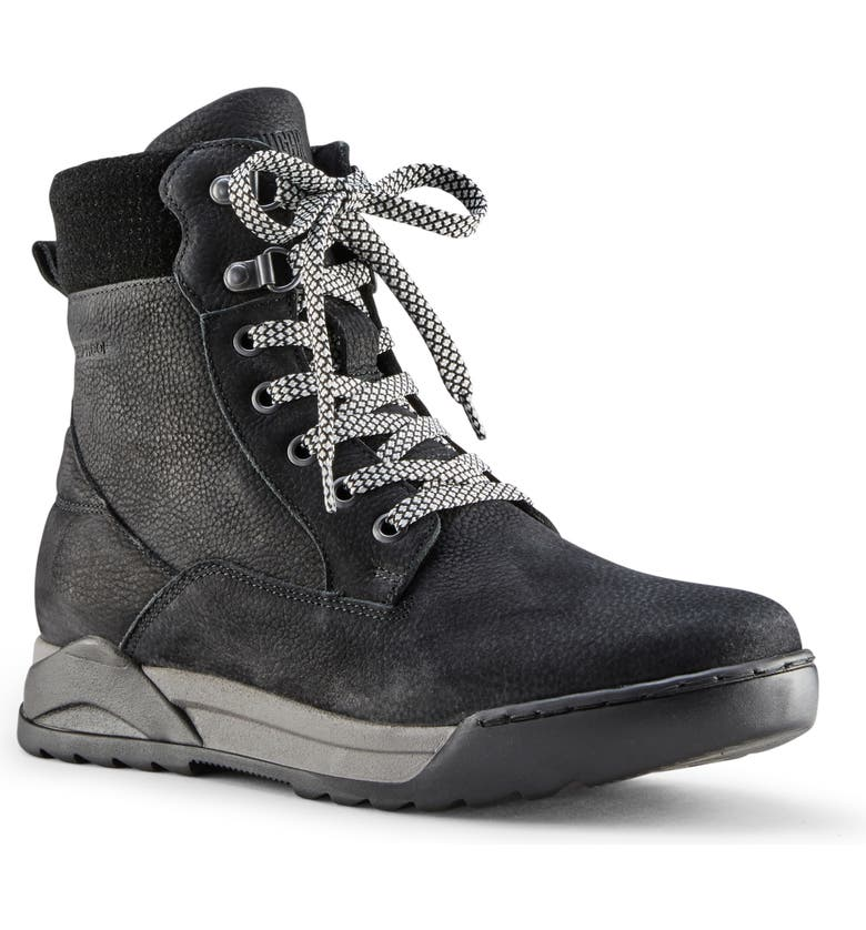 COUGAR Speedy Genuine Shearling Waterproof Boot, Main, color, BLACK LEATHER