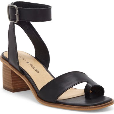Lucky Brand Loklin Ankle Strap Sandal, Black