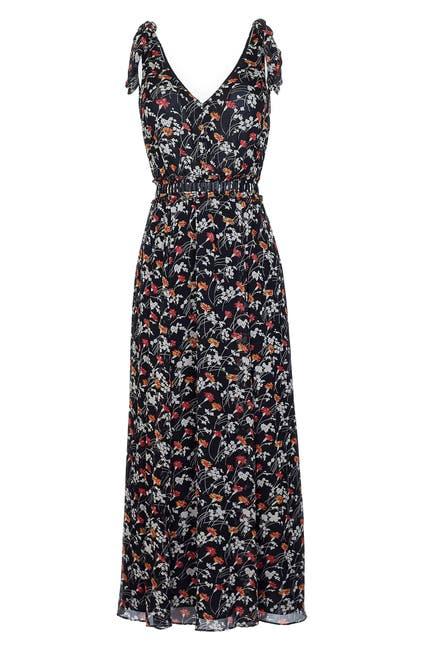 Image of Joie Huntlie Floral Tie Strap Silk Dress