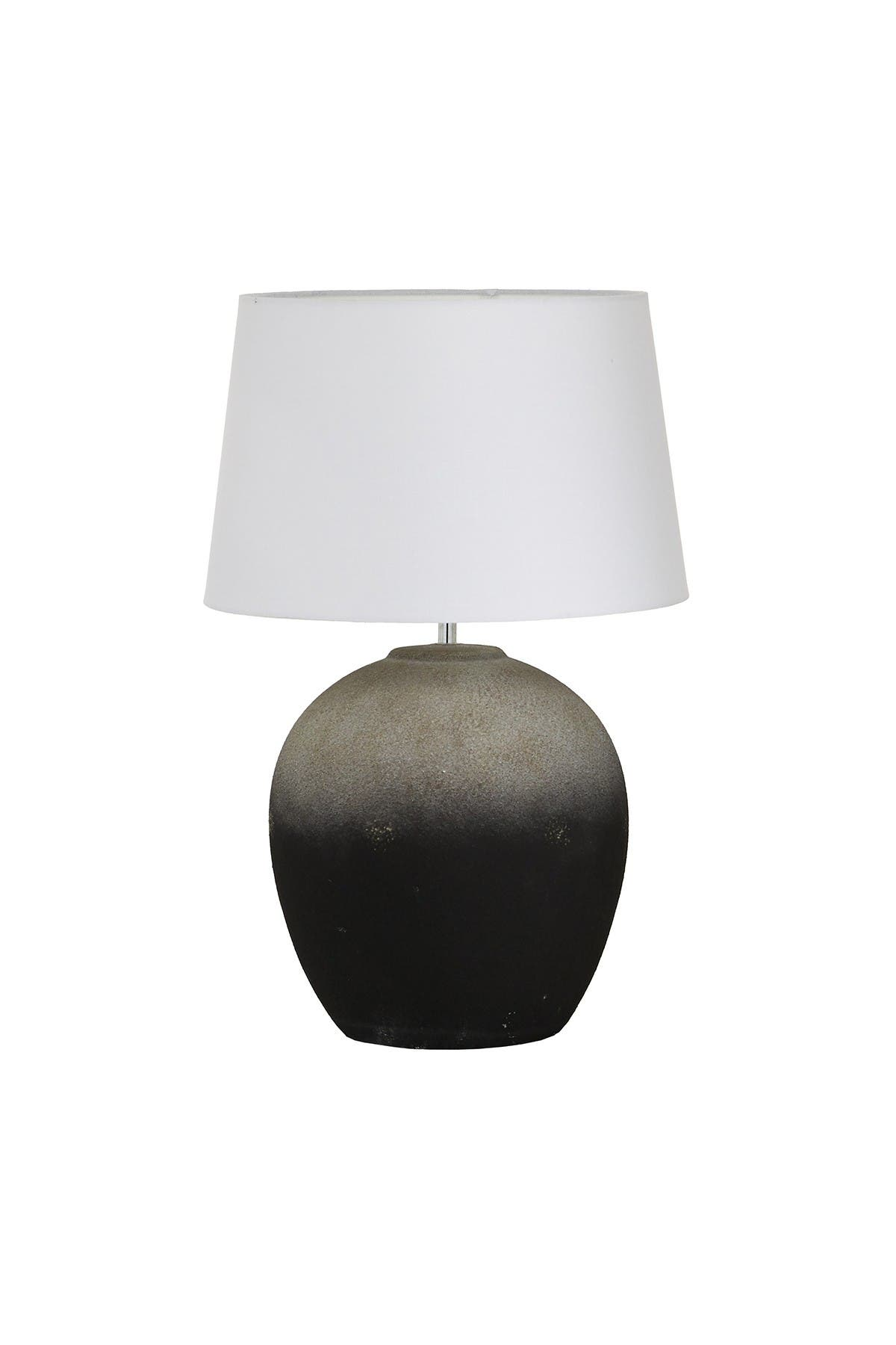 Willow Row Round Gray And Black Ceramic Table Lamp - 15\\\