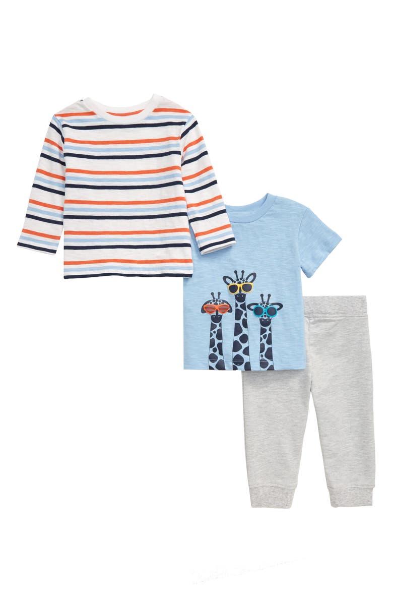 LITTLE ME Giraffe T-Shirts & Pants Set, Main, color, 029