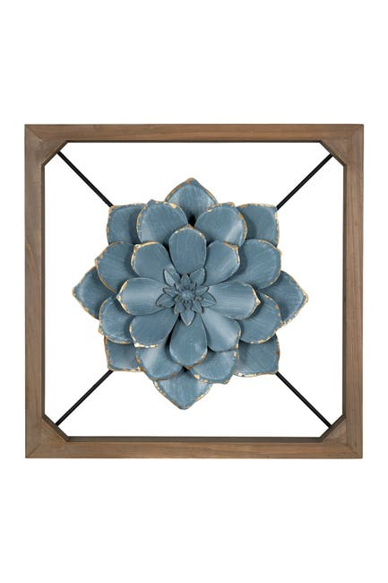Image of Stratton Home Floating Blue Flower Wall Decor