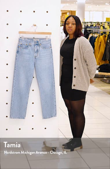 Wedgie High Waist Crop Straight Leg Jeans, sales video thumbnail