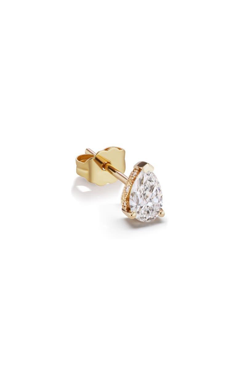 MARIA TASH Diamond Pear Stud Earring, Main, color, YELLOW GOLD/ DIAMOND
