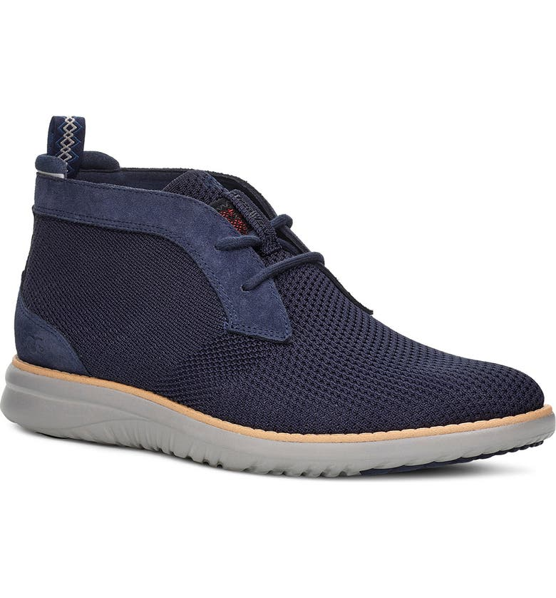UGG<SUP>®</SUP> Union HyperWeave Chukka Sneaker, Main, color, NAVY