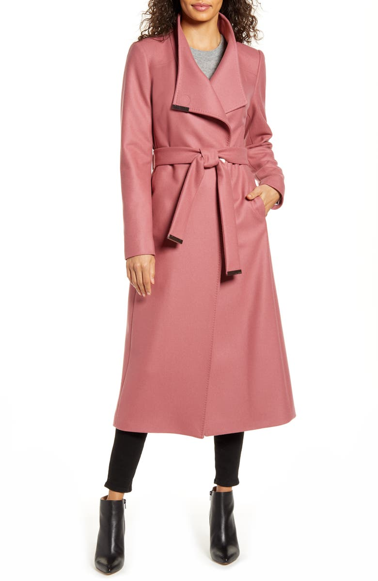 TED BAKER LONDON Gwynith Wool Blend Wrap Coat, Main, color, PINK
