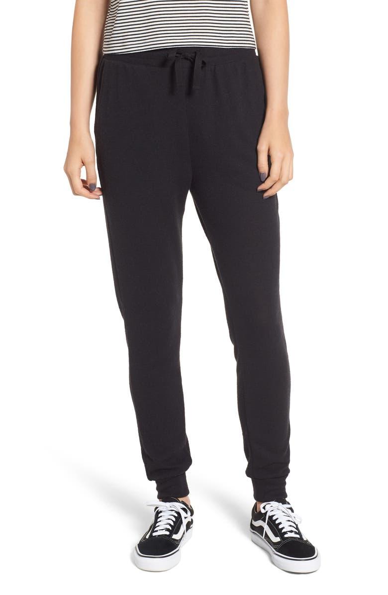 BP. High Rise Drawstring Jogger Pants, Main, color, 001