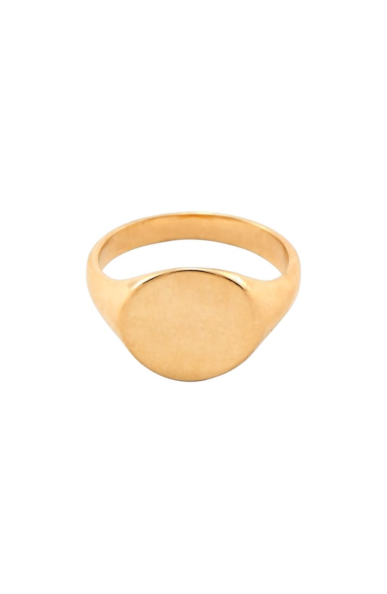 LOREN STEWART Baby Signet Ring, Main, color, GOLD