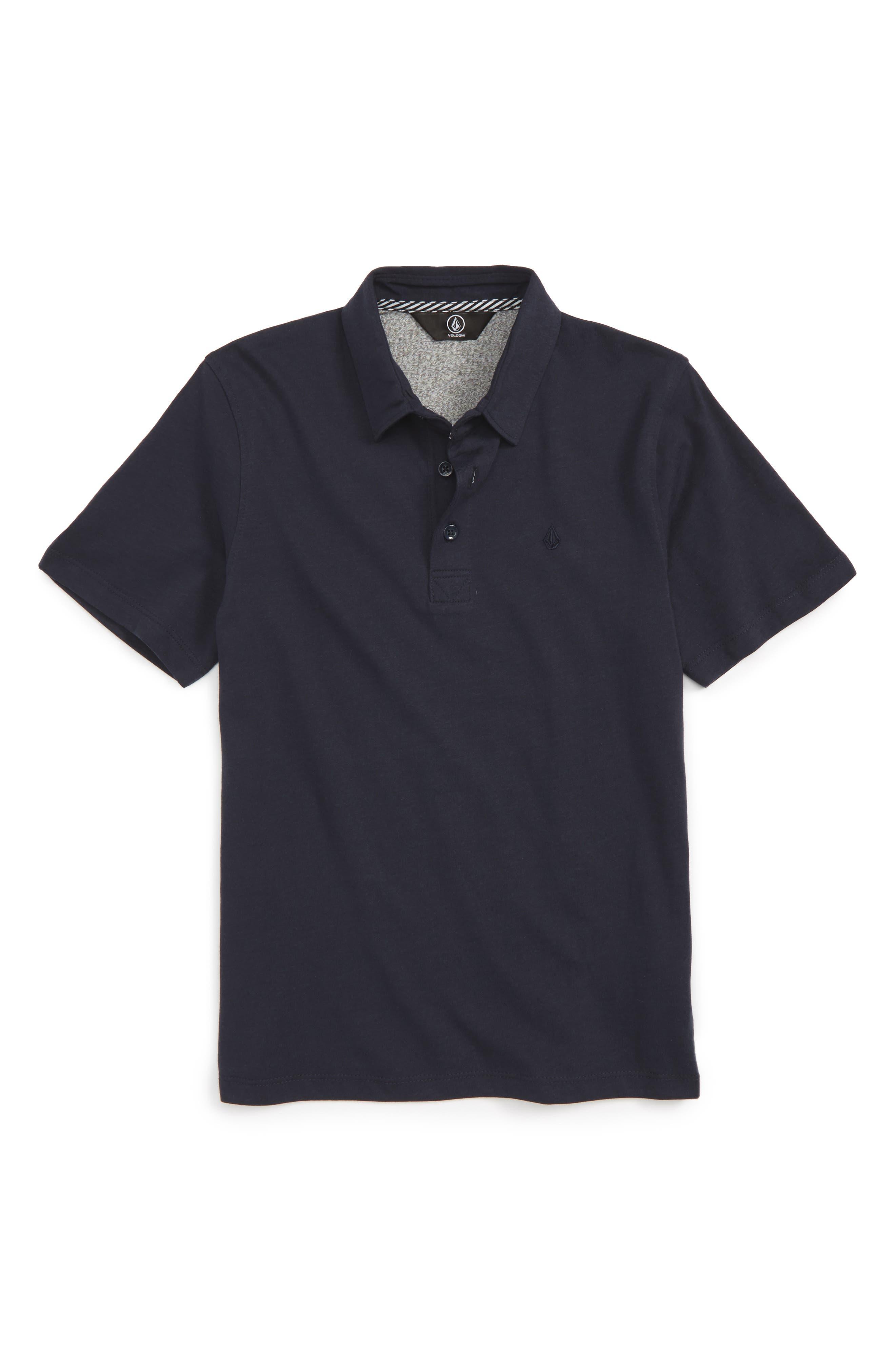 Boys Volcom Wowzer Polo Size 7  Blue