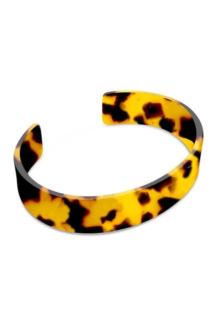 Image of Sterling Forever Tortoise Resin Cuff Bracelet
