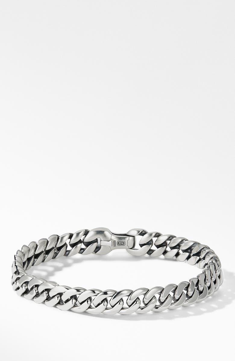 DAVID YURMAN Curb Chain Bracelet, 8mm, Main, color, SILVER