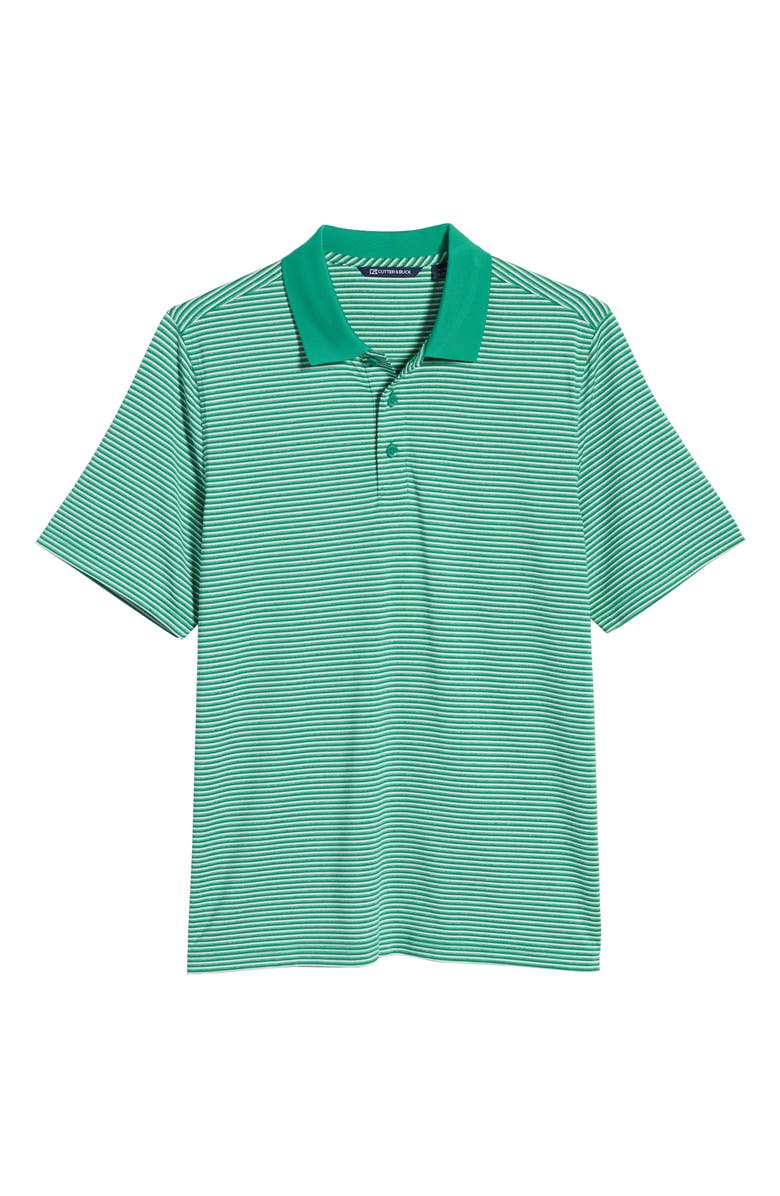 CUTTER & BUCK Forge DryTec Stripe Performance Polo, Main, color, KELLY GREEN