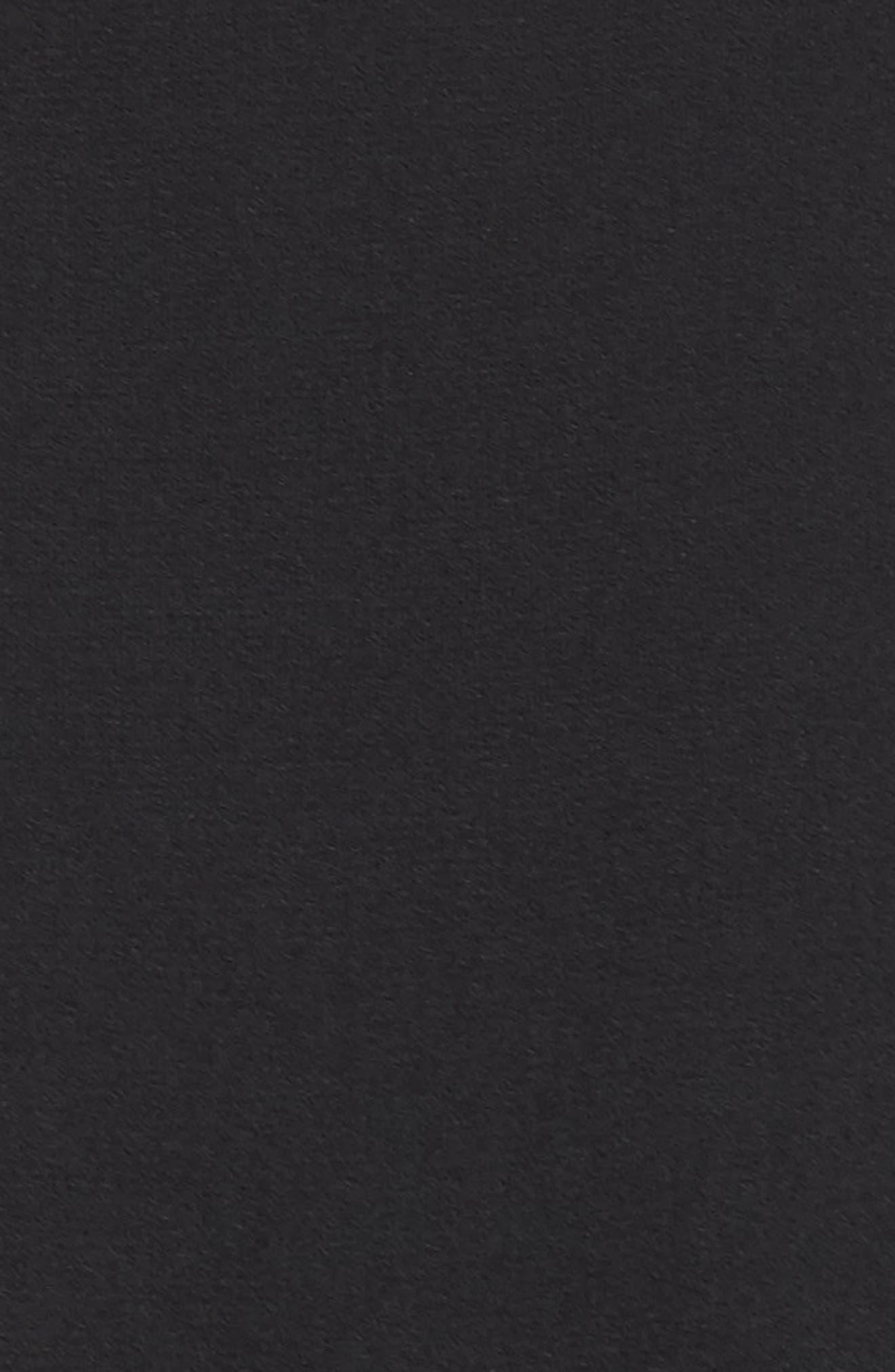 ,                             Moss Crepe Wide Leg Crop Jumpsuit,                             Alternate thumbnail 6, color,                             BLACK