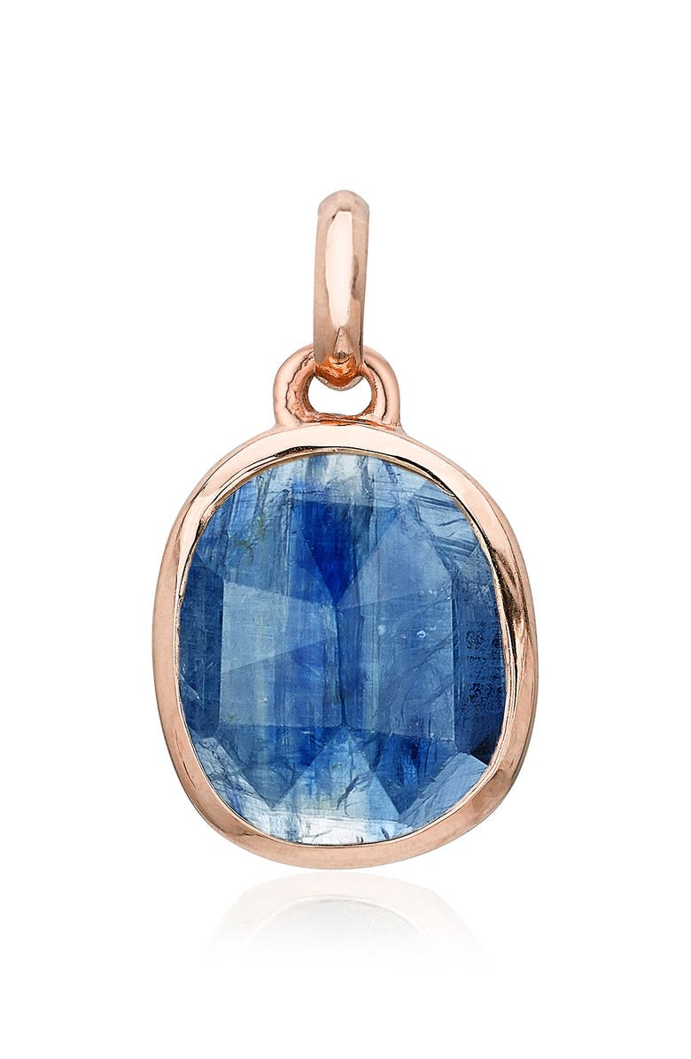 MONICA VINADER Siren Semiprecious Stone Pendant Charm, Main, color, ROSE GOLD/ KYANITE