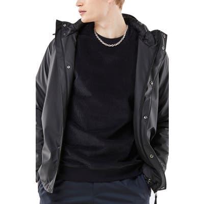 Rains Waterproof Rain Jacket, Black