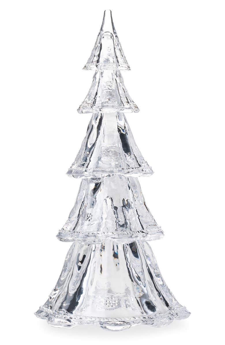 JULISKA Set of 5 Glass Trees, Main, color, CLEAR