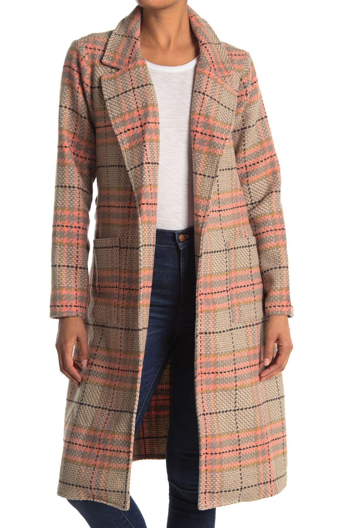 CODEXMODE Woven Plaid Duster