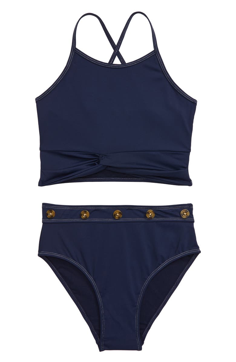 HABITUAL GIRL Habitual Two-Piece Swimsuit, Main, color, NAVY
