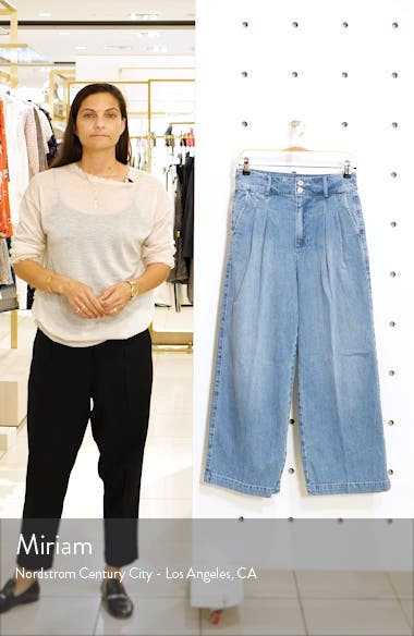 Pleated Wide Leg Trouser Jeans, sales video thumbnail